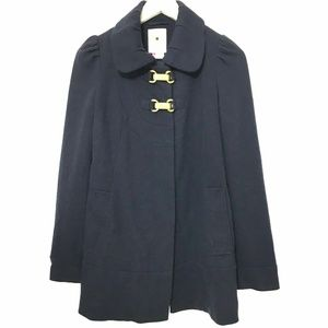 Elevenses Size 2 Spartan Pea Coat Jacket Navy Blue